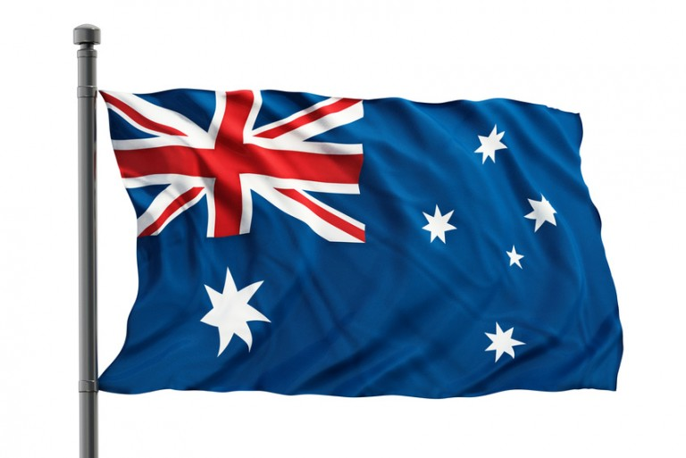 Australian citizenship test flag