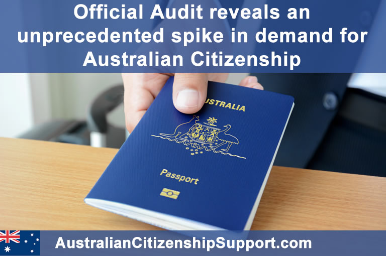 Australian citizenship spike